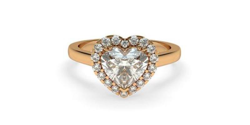heart cut diamond engagement ring